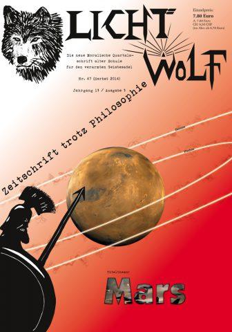 """Das Thema der Herbstausgabe der """"Zeitschrift trotz Philosophie"""" lautet """"Mars"""" – erhältlich als DIN-A4-Paperback sowie als E-Book für Kindle und im epub-Format."""